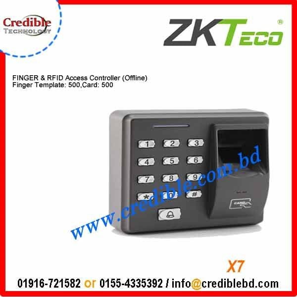 x7 zkteco fingerprint time attendance