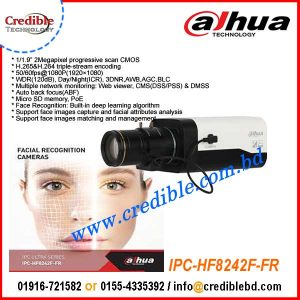 IPC-HF8242F-FR Dahua 2MP Starlight ip tripwire face detection Camera
