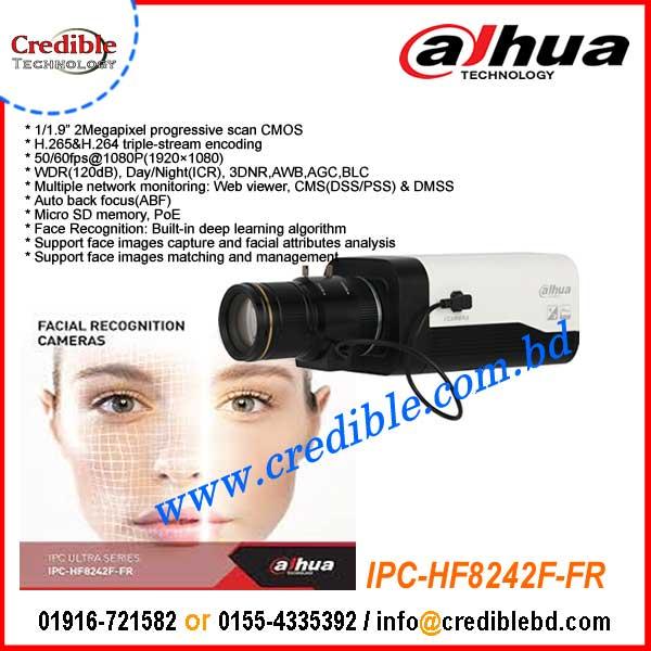 IPC-HF8242F-FR Dahua 2MP Starlight ip tripwire face detection Camera
