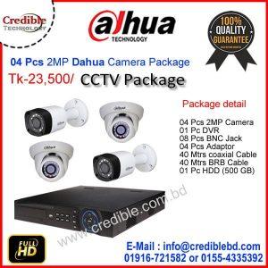 4 Pc DAHUA Camera Package Price